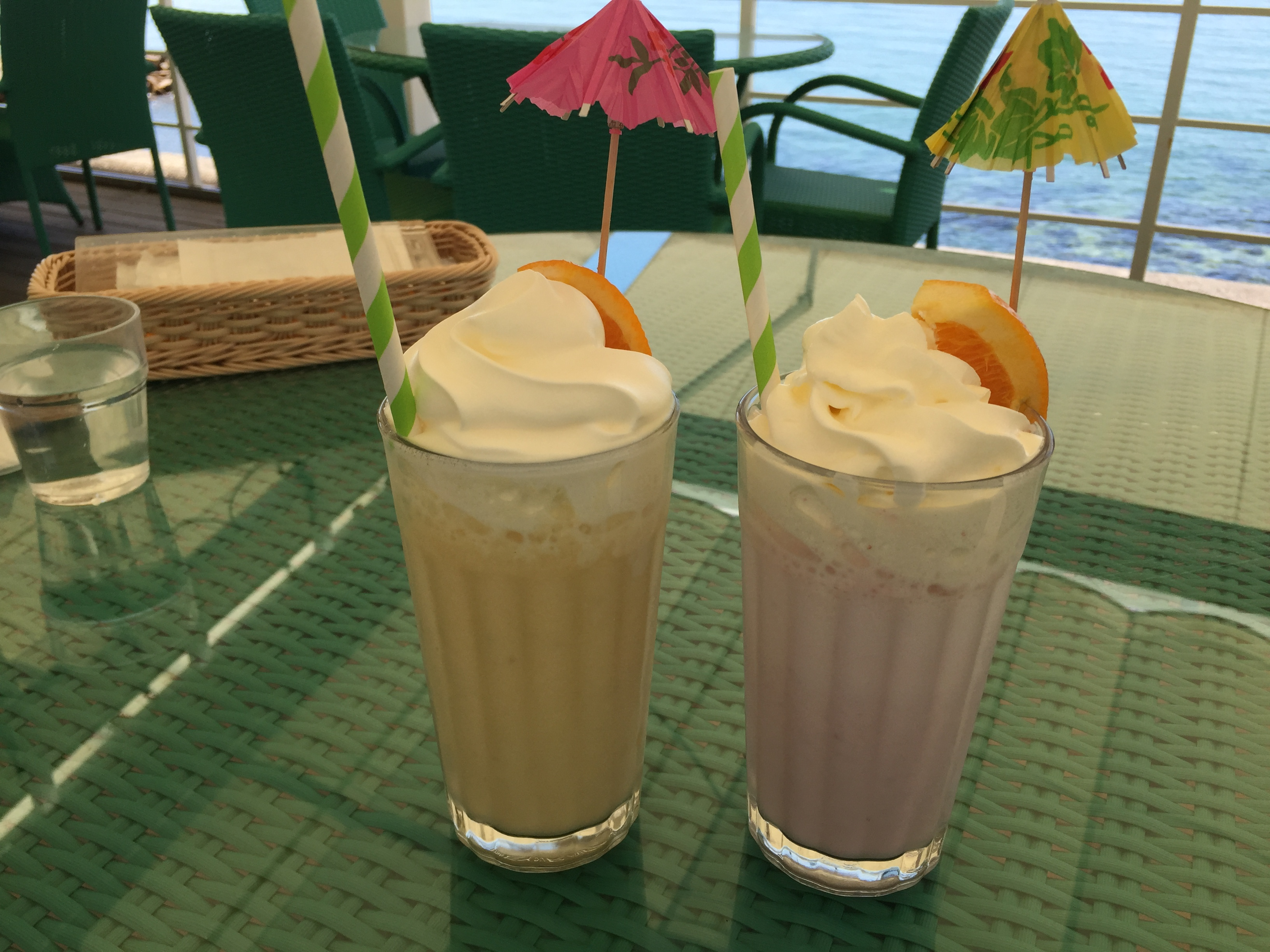Flavored milk on Awaji with a rich whipping cream.