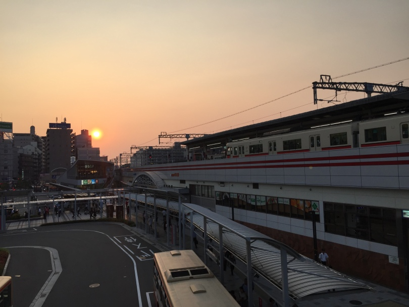 Akashi Station at sunset